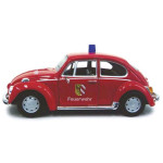 VW BEETLE RED FIRE DEPT  CARARAMA  143F
