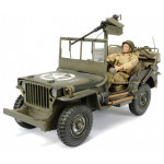 JEEP WILLYS 4X4 W OPEN TOP + GUN & MAN