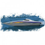 AQUACRAFT MINI MONO RACEBOAT RTR WITH TACTIC TTX300 RACING BOAT  AQUB1806