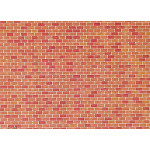 Faller Wall card, Red brick HO