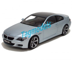 KYOSHO 1/18 - 08703S BMW M6 - SILVER / CARBON ROOF