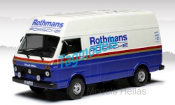 VW LT, white/blue, Rothmans-Porsche, Rally Assistance with roof rack  IXO  RAC285X