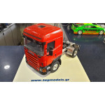 WEDICO 573 SCANIA CR19 CAB KIT RED WITH 730 CHASIS-720 MUD FLAPS-FUTABA S3003-LIGHTS-DIFFERENTIAL ROBBE