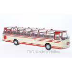 Setra S14 WHITE/RED 1966 IXO BUS009