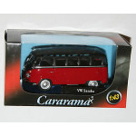 Cararama - VW Volkswagen SAMBA Bus (Red/Black)  251PND-5