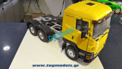Wedico 572 Scania CR19 Cab Kit  Yellow WITH 731 CHASIS-2 DIFFERENTIALS ROBBE