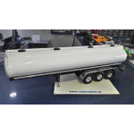 Wedico 319 Oval Tank body for Semi Trailers ,White.WITH 737 CHASIS AND 376 CHROME FENDERS