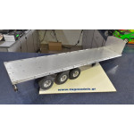 Wedico 322 Flatbed body for Semi Trailer 742mm WITH 737 CHASIS AND 376 CHROME FENDERS