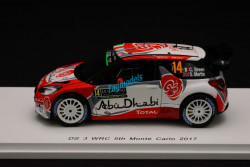Spark 1/43 Citroën DS3 WRC #14 Rally Monte Carlo 2017 S5156