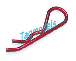 Body Clips Metallic Red 1/8 (6 pcs.)  RS026R